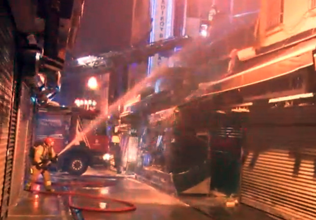 Kadıköy'de balık restoranı alev alev yandı